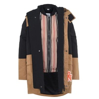 Two Tone Coat With Detachable Warmer Boys