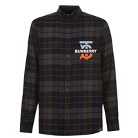 Patch Logo Checked Shirt