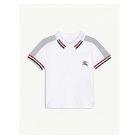 BURBERRY Kai striped cotton polo shirt 6-36 months