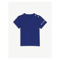 BURBERRY Logo cotton T-shirt 6-36 months