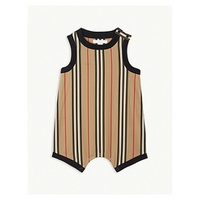 BURBERRY Nettie icon stripe cotton romper 6-24 months