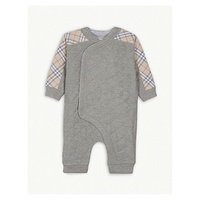 BURBERRY Dalton stretch-cotton jersey pramsuit 3-18months