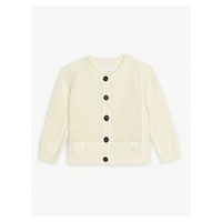 BURBERRY Cath open knit cardigan 6-24 months