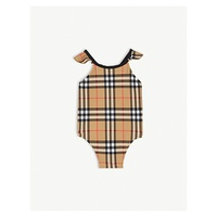 BURBERRY Vintage check frilled swimsuit 6-24 months