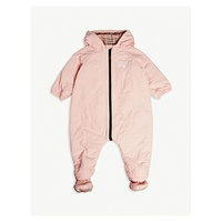BURBERRY Skylar quilted all-in-one 3-18 months