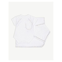 BURBERRY Cammy check trim cotton five piece set 1-9 months