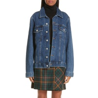 BURBERRY Rowledge Archive Logo Denim Jacket
