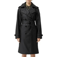 BURBERRY Curradine Waterproof Rubberized Trench Coat
