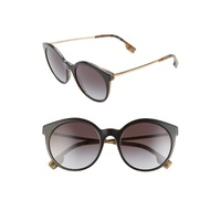 BURBERRY 53mm Round Sunglasses