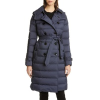 BURBERRY Arniston Double Breasted Quilted Down Puffer Coat