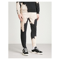CRIMINAL DAMAGE Bleach cotton-fleece jogging bottoms