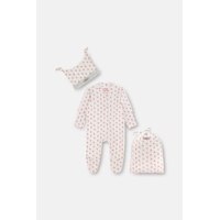 Provence Rose Baby Sleepsuit and Hat Set