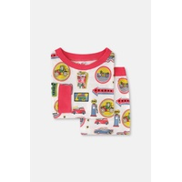 Garage Badges Kids Long Sleeve Jersey Pyjamas