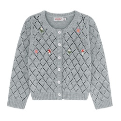 Cathkidston Vintage Stitch Kids Cardigan with Embroidery