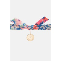 Cathkidston Personalised Kids Gold Disc Paper Rose Bracelet