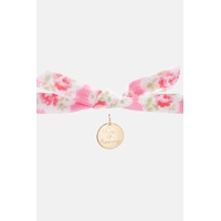Cathkidston Personalised Kids Gold Disc Provence Rose Bracelet