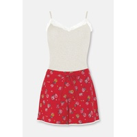 Cathkidston Red Vest and Shorts Set