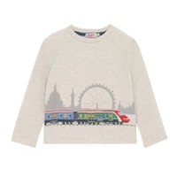 Cathkidston Long Sleeved London Trains T-shirt