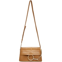 Brown Croc Small Faye Day Bag