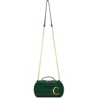 Green Croc Mini 'Chloe C' Vanity Bag