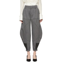 Chloe Black & White Cargo Trousers