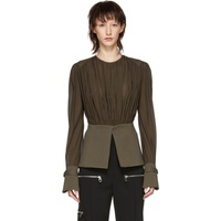 Chloe Brown Silk Blouse