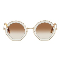 Chloe Gold Tally Sunglasses