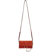 Chloe Red Faye Wallet Bag