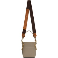 Chloe Grey Mini Roy Bucket Bag