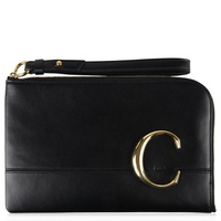 Chloe Classic C Leather Pouch Bag