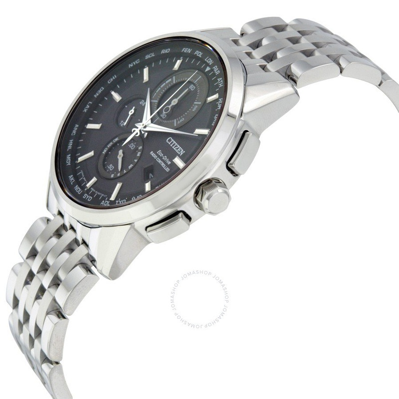 시티즌 Citizen World Chronograph A-T Eco-Drive Mens Watch AT8110-53E