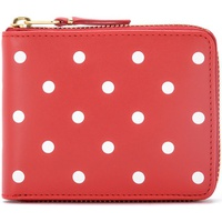 Comme Des Garcons Portafoglio in pelle rossa a pois Red