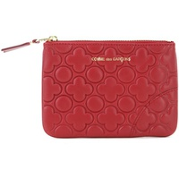 Comme Des Garcons Pochette Comme des Garcons wallet in printed red leather Red