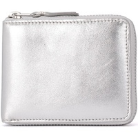 Comme Des Garcons silver leather wallet Silver