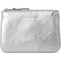 Comme Des Garcons silver leather purse Silver