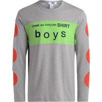 Comme Des Garcons Boys grey, green and red t-shirt Grey