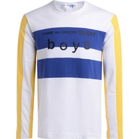 Comme Des Garcons Boys white. blue and yellow t-shirt White