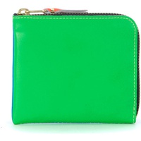 Comme Des Garcons blue and green fluo wallet Multicolour