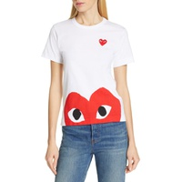 COMME DES GARCONS PLAY Peek Heart Graphic Tee