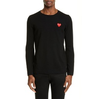 COMME DES GARCONS PLAY Crewneck Wool Sweater