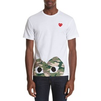 COMME DES GARCONS PLAY Camo Peek Heart T-Shirt