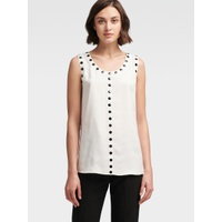 DKNY BUTTON-TRIM TANK