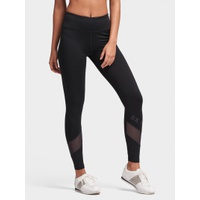 DKNY HIGH-WAISTED LOGO LEGGING WITH MESH PANELS