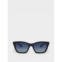 DKNY RECTANGULAR SUNGLASSES WITH TONAL FRAME