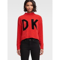 DKNY FRONT-BACK LOGO SWEATER