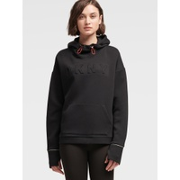 DKNY PULLOVER EMBROIDERED LOGO HOODIE WITH CROSSOVER BACK