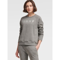 DKNY SWEATSHIRT WITH SPARKLE LOGO