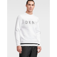 DKNY SCUBA LOGO PULLOVER WITH MESH DETAIL