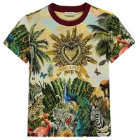 Children Boys Tropical Print T Shirt