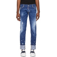 Blue Splashed Cuff Regular Clement Jeans